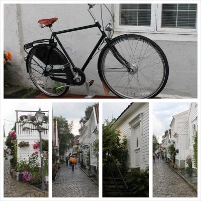 Dette er gamle stavanger. Stavangers eldste trebebyggelser og en stor turist magnet. Et sørlandsidyll