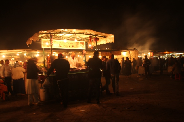 some of the stalls in Djemaa el-Fna