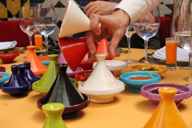 the mini tagine in the color of the rainbow