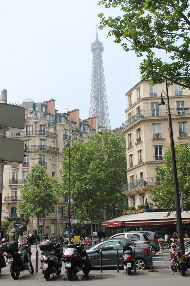 The Eiffel Tower and its signature spire