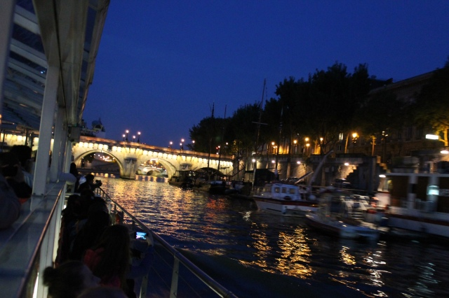 cursing the seine at night time
