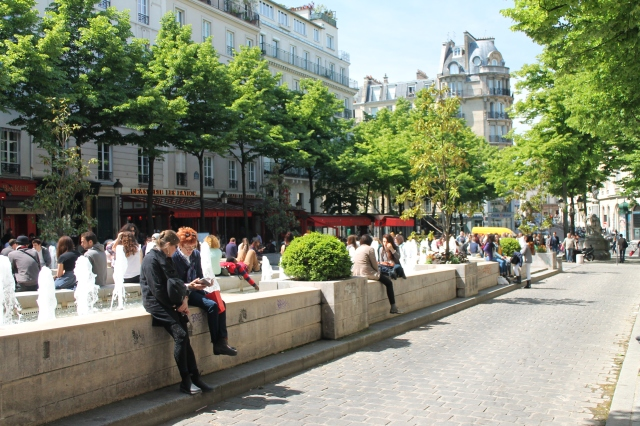 The square outside Sorbonne University